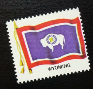 USA Poster Stamp Flag WYOMING  C30