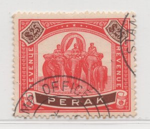 Malaya Perak - 1895-99 - $25 Revenue - used #584