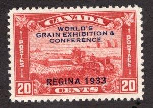 #203 - Canada -  1933  -  20 Cent Grain X -  MNH  - VF -  superfleas  cv $120