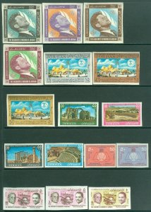EDW1949SELL : JORDAN Nice group of all Very Fine, Mint NH Complete Imperf sets.