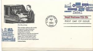 US, U606, FDC,SMALL BUSINESS, ARISTOCRAT CACHET, 1984