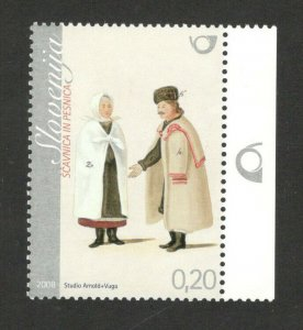 SLOVENIA - MNH STAMP - COSTUMES - 2008.