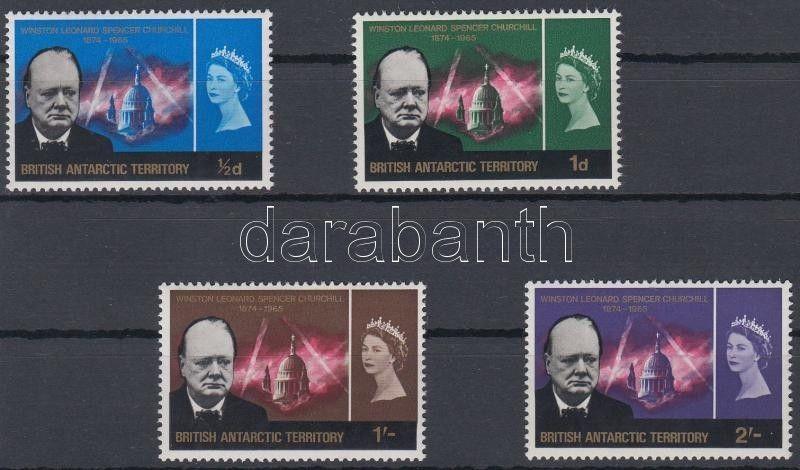 British Antarctic Territory stamp Churchill set MNH 1966 Mi 16-19 WS160204
