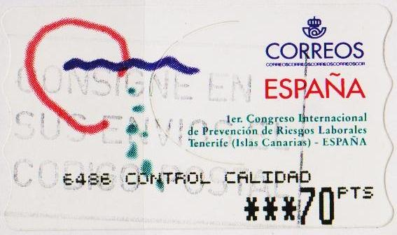 Spain. 2000? 70p Machine Label. Fine Used