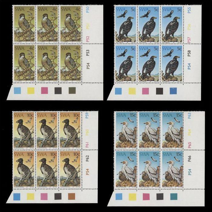 South West Africa 1975 Protected Birds of Prey in Blocks.UM/MNH