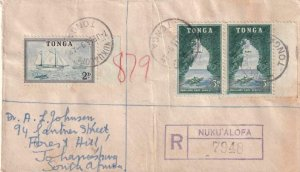1955, Nuku'alofa, Tonga to Johannesburg, South Africa, Registered (43012)