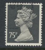 GB QE II Machin - SG X994   Used  75p Harrison phosporised paper