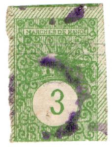 (I.B) France Colonial Revenue : Vietnam (Hanoi) Market Tax 3c