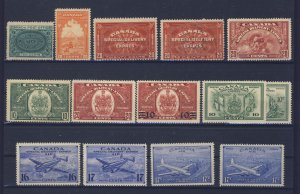 14x Canada Special Delivery Stamps Guide Value = $231.00