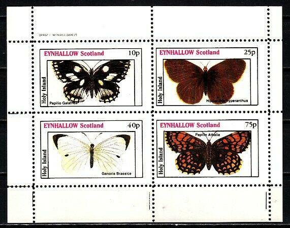 Eynhallow, 1982 Scotland Local issue. Butterfly sheet. E7