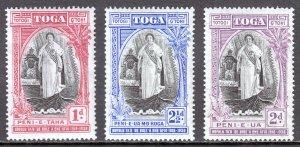 Tonga - Scott #70-72 - MH - Gum wrinkling, pencil/rev. - SCV $16.65