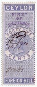 (I.B) Ceylon Revenue : Foreign Bill 45c (First)