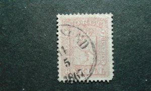 Norway #9 used thin e208 10815