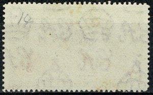 GIBRALTAR 1938-51 KG VI 6d CARMINE & GREY-VIOLET MLH P.14 Wmk MSCA SG126a SUPERB