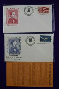 MAVEX Youngstown OH 1962 Birth of WH McGuffey Philatelic Expo show Cachet Cover