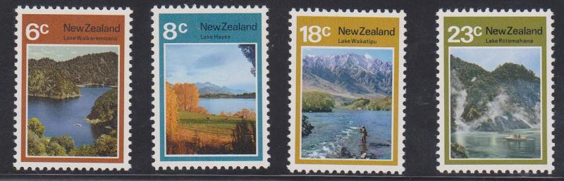 New Zealand - 1972 Lakes Set of 4 Complete VF-NH Sc #507-510