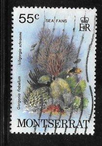 Montserrat 433: 55c Sea Fans, used, VF