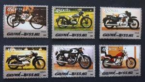 Motorcycles - Guinea Bissau 2005 - complete set ** MNH