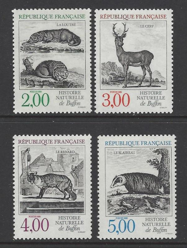 France 1988 Animals VFMNH (2123-6)