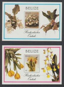 Belize Sc 882-897 MNH. 1987 Orchids, complete set incl souvenir sheets, fresh VF
