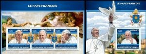 Guinea 2013 Pope Francis famous persons klb+s/s MNH