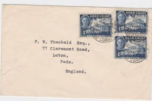 gold coast 1951 stamps cover to england     ref r13461
