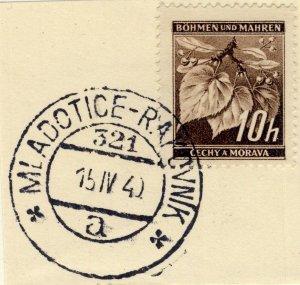 BÖHMEN u. MAHREN - 1940  * MLADOTICE-RAKOVNIK *  TPO n°321a CDS on Mi.21