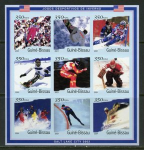 GUINEA BISSAU 2001  INVERNO  WINTER OLYMPICS  IMPERFORATE SHEET  MINT NH