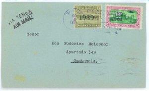 99844 - GUATEMALA - POSTAL HISTORY - Internal  AIRMAIL COVER  1939
