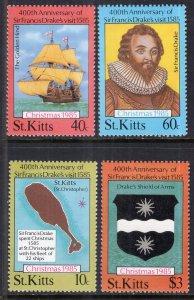St. Kitts MNH 173-6 Sir Francis Drakes Visit SCV 2.50