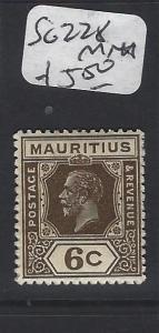 MAURITIUS (P1905B)  KGV 6 C SG  228   MNH