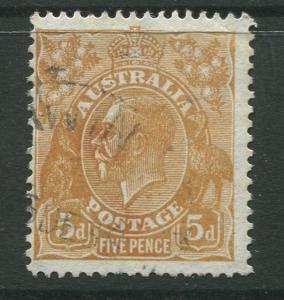 Australia  #120 Used 1932 Single 5p Stamp