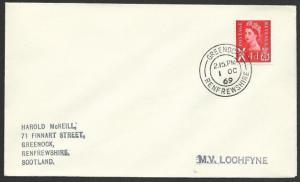 GB SCOTLAND 1969 cover Clyde Steamer cachet  MV LOCHFYNE...................48210