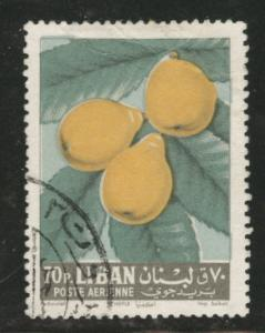 LEBANON Scott C365 used 1962 airmail