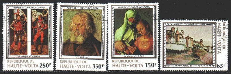 Upper Volta. 1978. 732-35. D?rer, painting. USED.