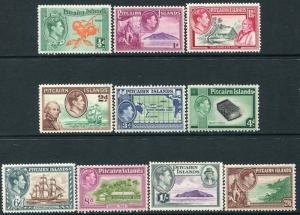 PITCAIRN ISLANDS-1940-51 Set to 2/6 Sg 1-8 MOUNTED MINT V22376