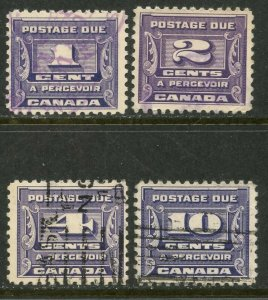 CANADA  Sc#J11-J14 1933-34 Postage Dues Complete Set Used