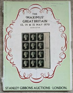 Auction Catalogue MAXIMUS GREAT BRITAIN Stanley Gibbons 1970