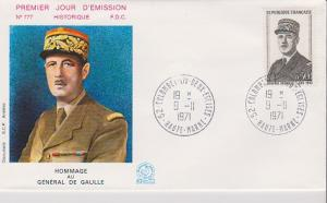 FRANCE STAMPS FDC -YEARS 1971- CH.DEGAULE # LOT#A-09