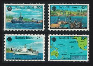 Norfolk Ships World Communications Year ANZCAN Cable 4v SG#314-317 SC#319-322
