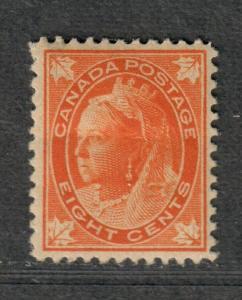 Canada Sc#72 M/H/F-VF, Cv. $325