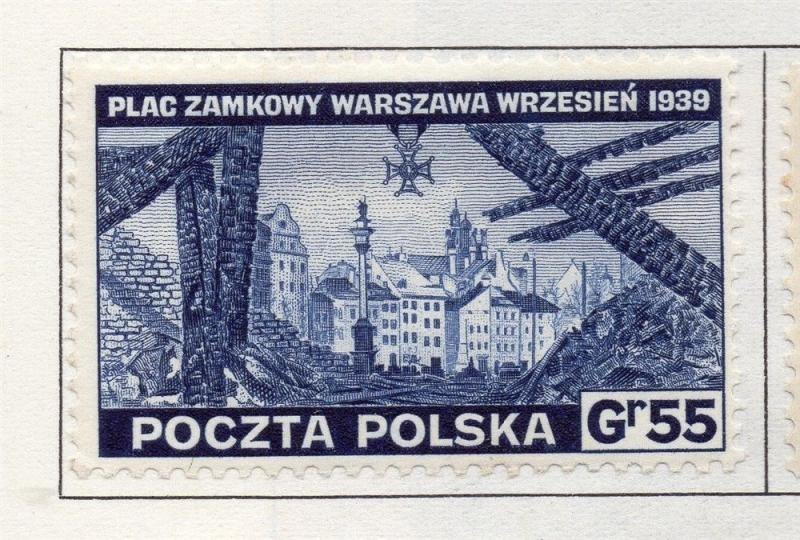 Poland 1941-44 Early Issue Fine Mint Hinged 55g. 190944