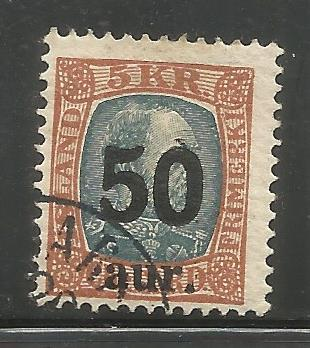 ICELAND  138  USED,  1925 ISSUE