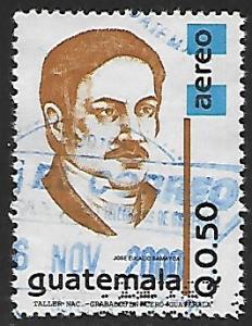 Guatemala # C864 - J.E. Samayoa - used   -{BRN17}