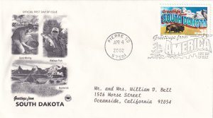 2002, Greetings from South Dakota, PCS, FDC (E11338)