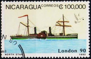 Nicaragua. 1990 100,000cor  Fine Used