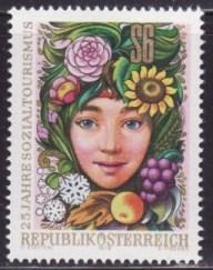 Austria #1083 F-VF MNH ** Child with fruit and flowers