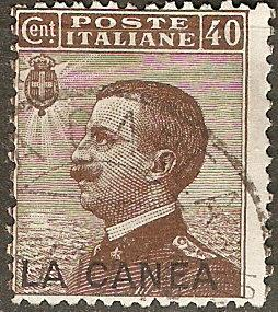 Italy Off Crete 17 SG 18 Used  Fine 1907 SCV $32.50