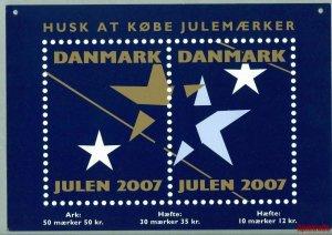 Denmark. Christmas Seal. 2007. 1 Post Office,Display,Advertising Sign. Stars