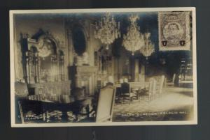 1911 Mexico City DF Mexico RPPC Postcard Cover national Palce Dining Hall